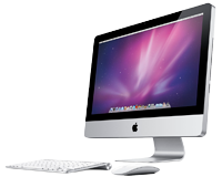 An Apple iMac computer