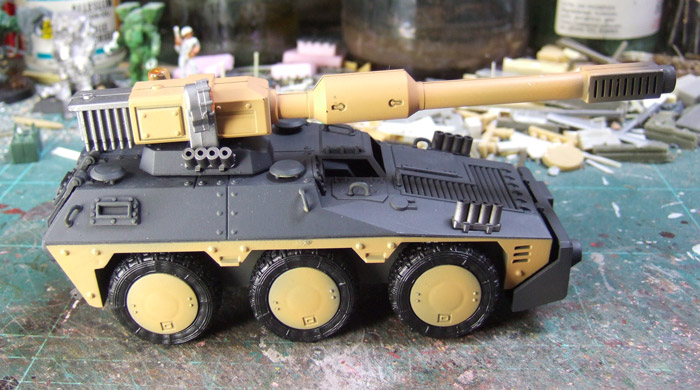 Heavy Battletank with balanced gun