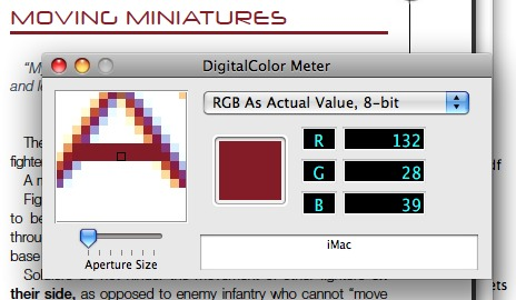 Screenshot of DigitalColor Meter application