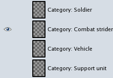 "GIMP ""Category"" layers"