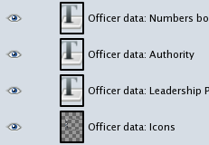 "GIMP ""Officer data"" layers"