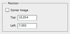 "Part of the Photoshop &qyot;Print"" window, showing the image placement box"
