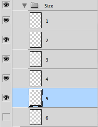 "Photoshop layer group ""Size"""