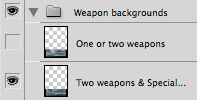 "Photoshop layer group ""Weapon backgrounds"""