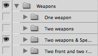 "Photoshop layer group ""Weapons"""