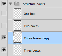 Photoshop layers showing a duplicate of one layer