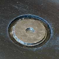 Close-up of a manhole cover